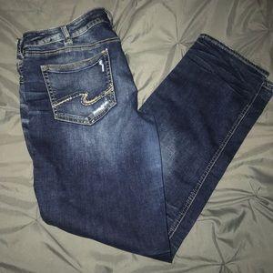 Silver Berkley Straight Jeans